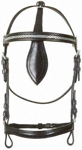 PFIFF ohne Scheuklappen Pferde Kopfstück Fahrkopfstück /'Standard/' mit od