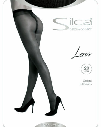 3 Collant donna Silca Lena 20 opaco tutto nudo con cinturino comfort art Lena 20