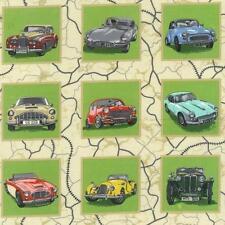 Clásicos y antiguos coches paneles Colchas de retazos de tela 55 paneles cada 8 Cm Cuadrado