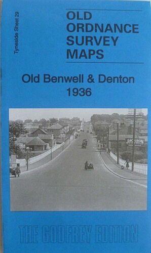 Old Ordnance Survey Maps Old Benwell /& Denton Tyneside 1936 Godfrey Edition New