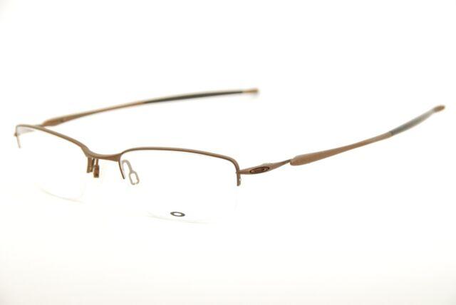 5617c29f2a8e9 New Authentic Oakley 22-217 Transistor Brown 54mm Half Rim Eyeglasses RX    Case