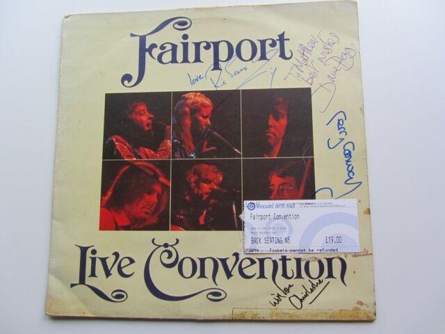 FAIRPORT coventinon 1972GB LP Fairport Live covention Autografiado & Boletos
