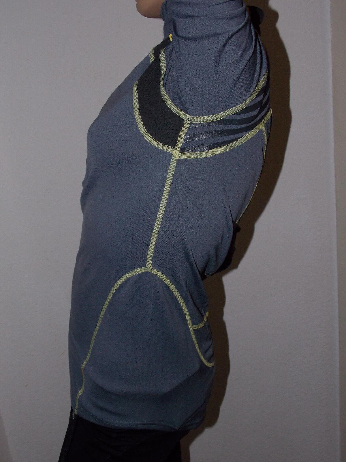 Frauen langarm langarm langarm Joggin Sportshirt Helly Hansen mit Sonnenschutz UPS30+ grau Gr. M 1badba