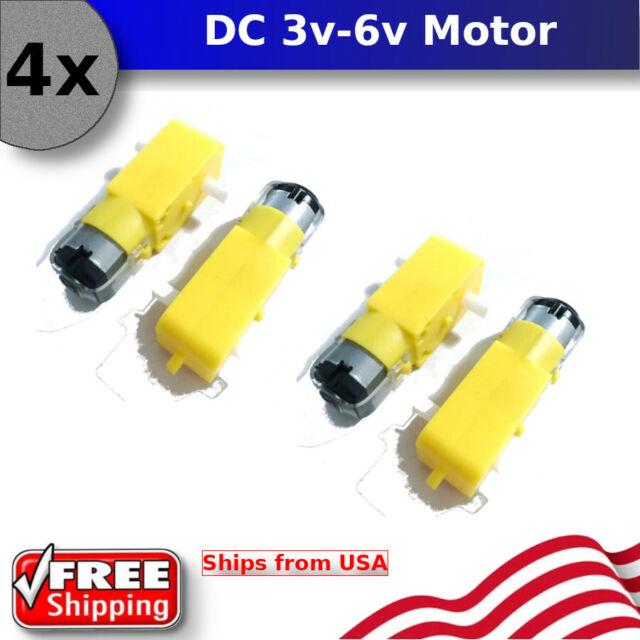 Single-shaft TT Motor DC3-6V Gear Motor Ratio 1:48//1:120 For DIY Smart Car