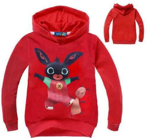 100/% Cotton 5 Colour Choices Bing Bunny Hoodie New /& Sealed 18mth-4 yrs