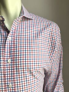 Ledbury Shirt, York Plaid, X-Large (17, 36/37), Excellent Condition