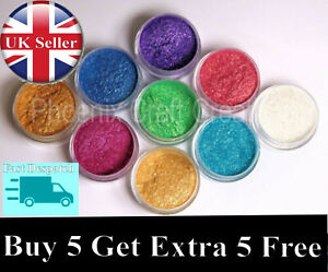 Metallic Pigment/Dye Mica Powder - 56 Colours - 10g - FREE POSTAGE