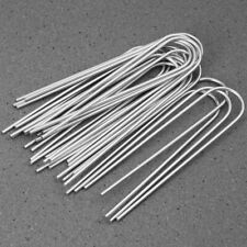 Plastic Garden Stakes Anchors Landscape Ground Nail 110mm 4.3-inch Black 20pcs