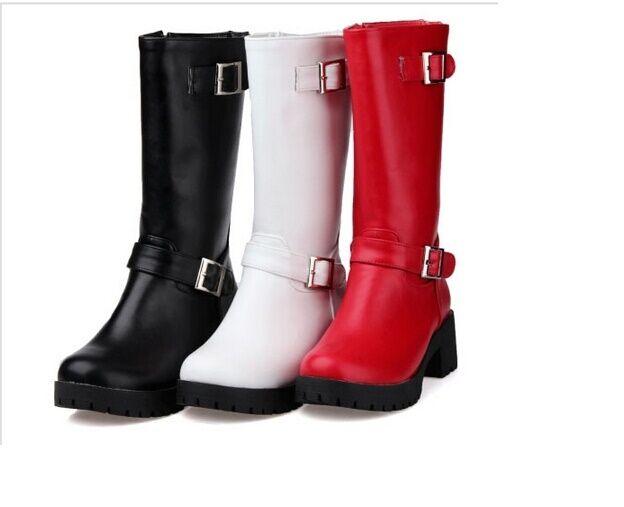 Botines botas zapatos botas militares mujer talón 5 como piel cómodo caldi 9104