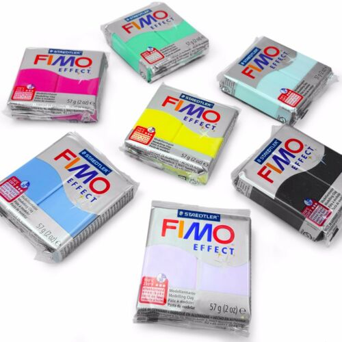 FIMO Effect Polymer Oven Modelling Clay Gemstone Finish Set of 7 57g