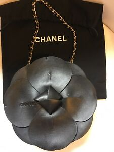 AUTHENTIC-CHANEL-BLACK-LAMBSKIN-CAMELLIA-FLOWER-HANDBAG-EXCEPTIONAL-FAB