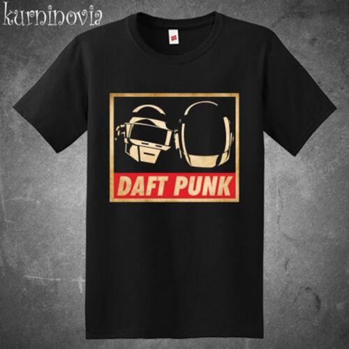 DJ Daft Punk Logo Electro Musique Homme T-Shirt Noir Taille S M L XL 2XL 3XL