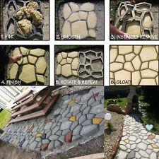 "Pathmate Random Stone Mold Concrete Stepping Stone Paver Molds Pathway Maker 20"""
