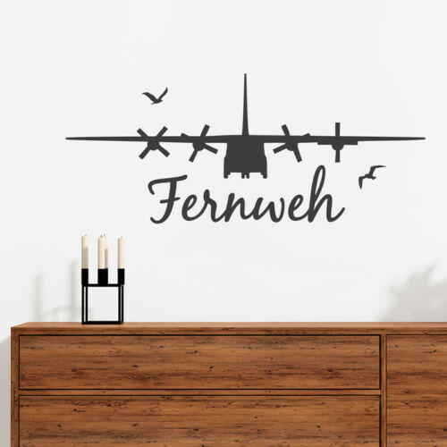 "Wall Tattoo Saying /""Wanderlust/"" Holiday Aeroplane Wall Sticker Wall Decal Holding Cushion"