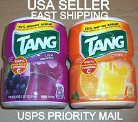 Tang Grape Orange Breakfast Powder Drink Mix Juice Snack Travel Camping Summer2b