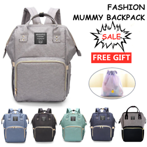 Waterproof-Large-Mummy-Nappy-Diaper-Bag-Baby-Travel-Changing-Nursing-Backpack