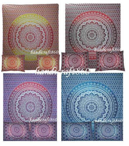 Wholesale Lot 5 Pc Mandala Comforter Doona Cover Queen Bedding Throw Duvet Cover