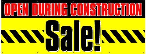 "Free Shipping//Customization 5/'x13/' Construction Sale Banner 60/""x156/"""