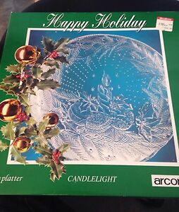 Arcoroc-Candlelight-Serving-Platter-Round-Christmas-13-034-Glass
