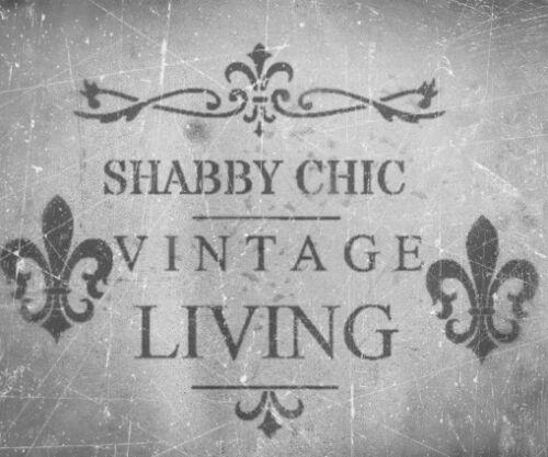 SHABBY-CHIC-VINTAGE-STENCIL-SCHABLONE-FRANKREICH-MOBEL-WAND-TEXTIL-GARDINE-A5