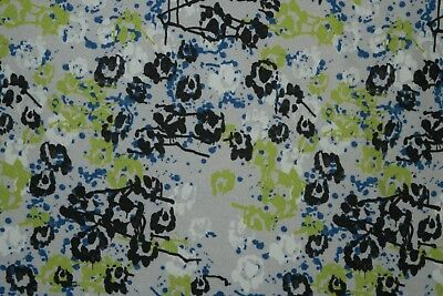 Abstract Green Print #881 Nylon Lycra Spandex 4 Way Stretch Swimwear Fabric BTY