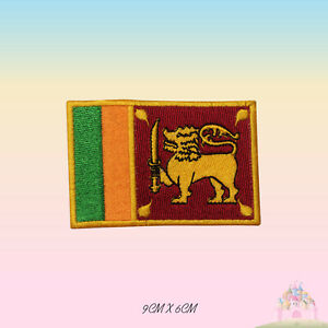 Srilanka National Flag Embroidered Iron On Patch Sew On Badge Applique