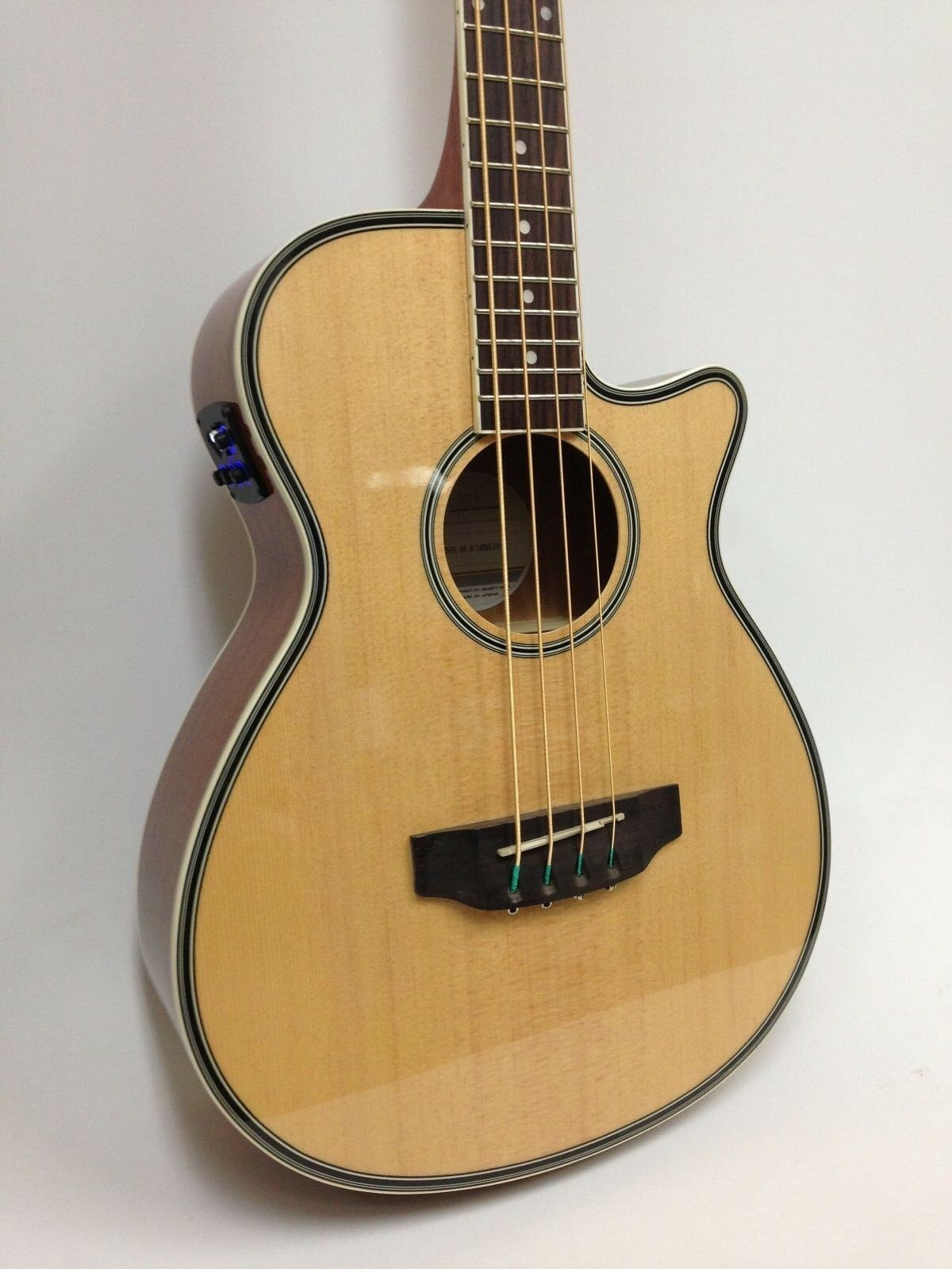 Haze FB-711BCEQ/N 3/4 Größe Acoustic Bass Guitar,4-String,EQ,Natural+Free Gig Bag