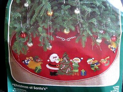 BUCILLA Felt Applique Holiday TREE SKIRT Kit,CHRISTMAS AT ...