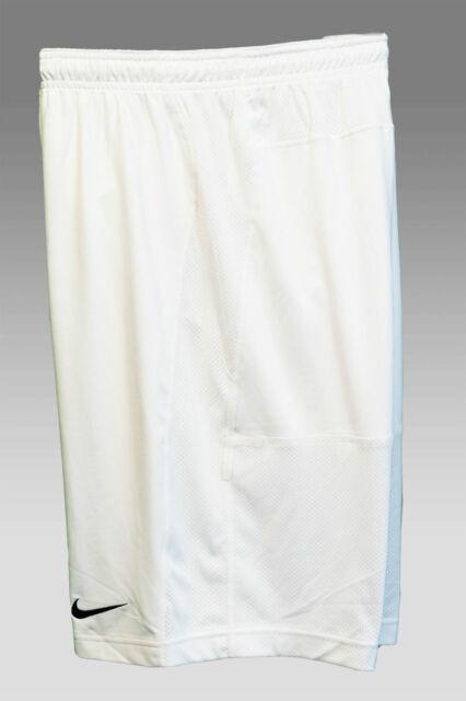 Nuova Nike Professionale Pantaloncini Allenamento di Calcio Bianco XL