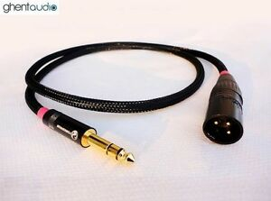 C03-0-3m-1ft-6-35mm-TRS-male-to-Balanced-XLR-male-OFC-HIFI-Audio-Cable