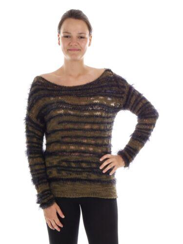 a moda marrone maglia Richundroyal pullover alla tondo Scaldacollo lavorato Top HPqOEz