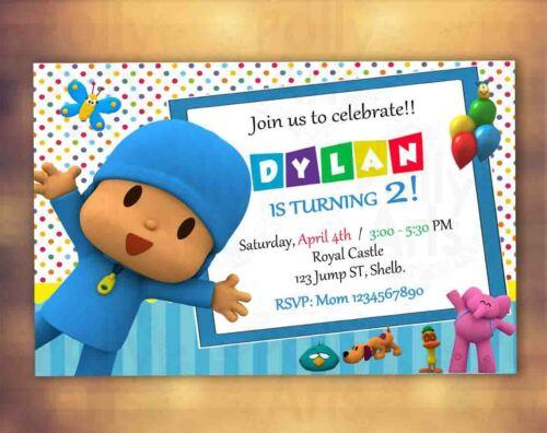 Pocoyo Digital Birthday Invitation Card Invite Printable