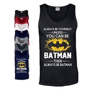 Always-be-Batman-Tank-Top-DC-Comic-Marvel-Superhero-Birthday-Gift-Mens-Vest-Gift