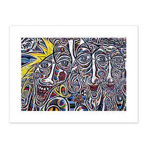Graffiti-Psychedelic-Colourful-Faces-Canvas-Wall-Art-Print