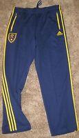 Adidas MLS Real Salt Lake Blue SIDELINE Track Pants Mens RSL L LG PANT SOCCER