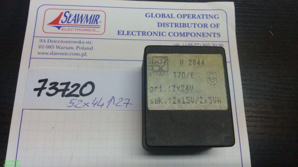 Hahn bvui 3040129 Transformer 10VA 2x115V 2x7 5V 2x667mA Flat Transformer 856371