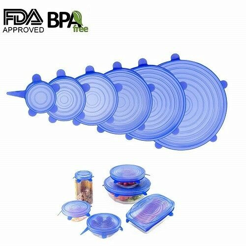 Silicone Stretch Lids-12 Pcs Ultimate Instalids Silicon Cover For Various  T6C1