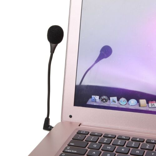 Mini 18cm 3.5mm Interface Noise Canceling Flexible Microphone For PC Notebook