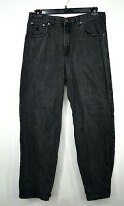Rocawear Mens Black Denim Cotton Button Front Straight Leg Casual Jeans 34