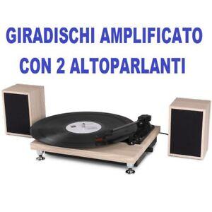 GIRADISCHI-VINILE-PIATTO-AMPLIFICATO-CON-2-CASSE-ACUSTICHE-INCLUSE-completo