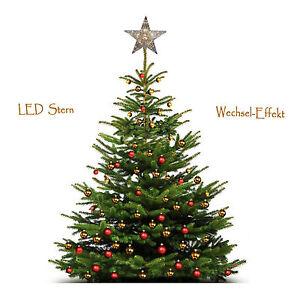 Weihnachtsstern Für Tannenbaum.Stern Weihnachtsstern Tannenbaum Led Dekostern Baumspitze