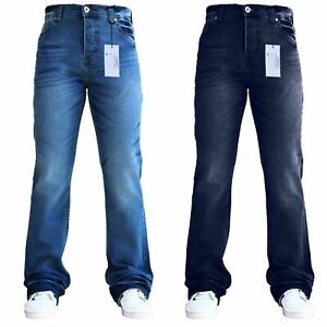 Mens-Designer-Flared-Wide-Leg-Bootcut-Pant-Denim-Waist-And-Sizes-SnS-Jeans