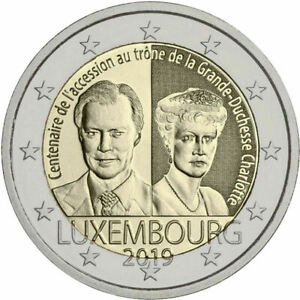 Luxembourg-2-Piece-Commemorative-Accession-au-Trone-Carlotta-UNC