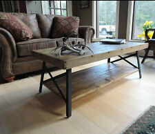 Rustic Wood Coffee Table Reclaimed Wooden Industrial Distressed Vintage  Cocktail