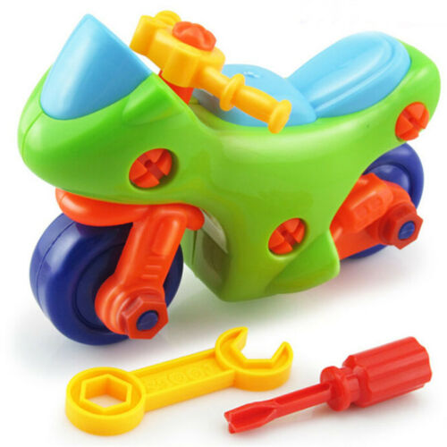 Baby Toy Assembly Motorcycle Model Building Blocks For Early Educational Popular