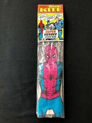 Vintage Con 1970s Convoglio Super Heroes Spider-man Pocket Aquilone Nuovo Vecchio Stock Rf2-