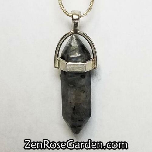 SPECTROLITE Labradorite Healing Crystal Collier cristal point collier pendentif