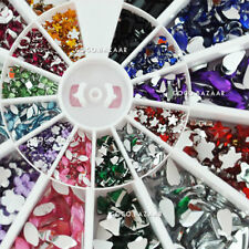 New 1200 x Mixed-Shape 12 Color Crystal  Rhinestone  Acrylic Nail Art Deco #9