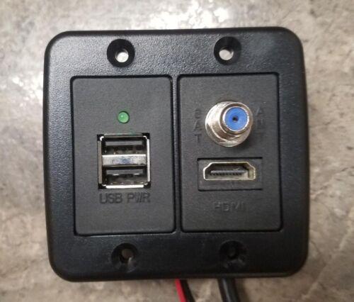 American Technology Components AV2-5-UH HDMI//Coax /& Dual USB