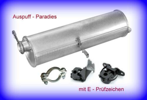 Kit Endschalldämpfer für Peugeot 307 2.0 HDi 110 Stationwagon /& Break bis 03//07
